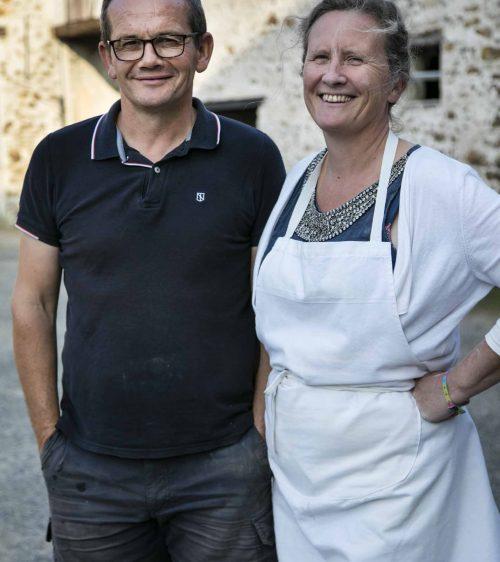 Eric Gobard et sa femme - Moulin de Chantemerle - Aulnoy