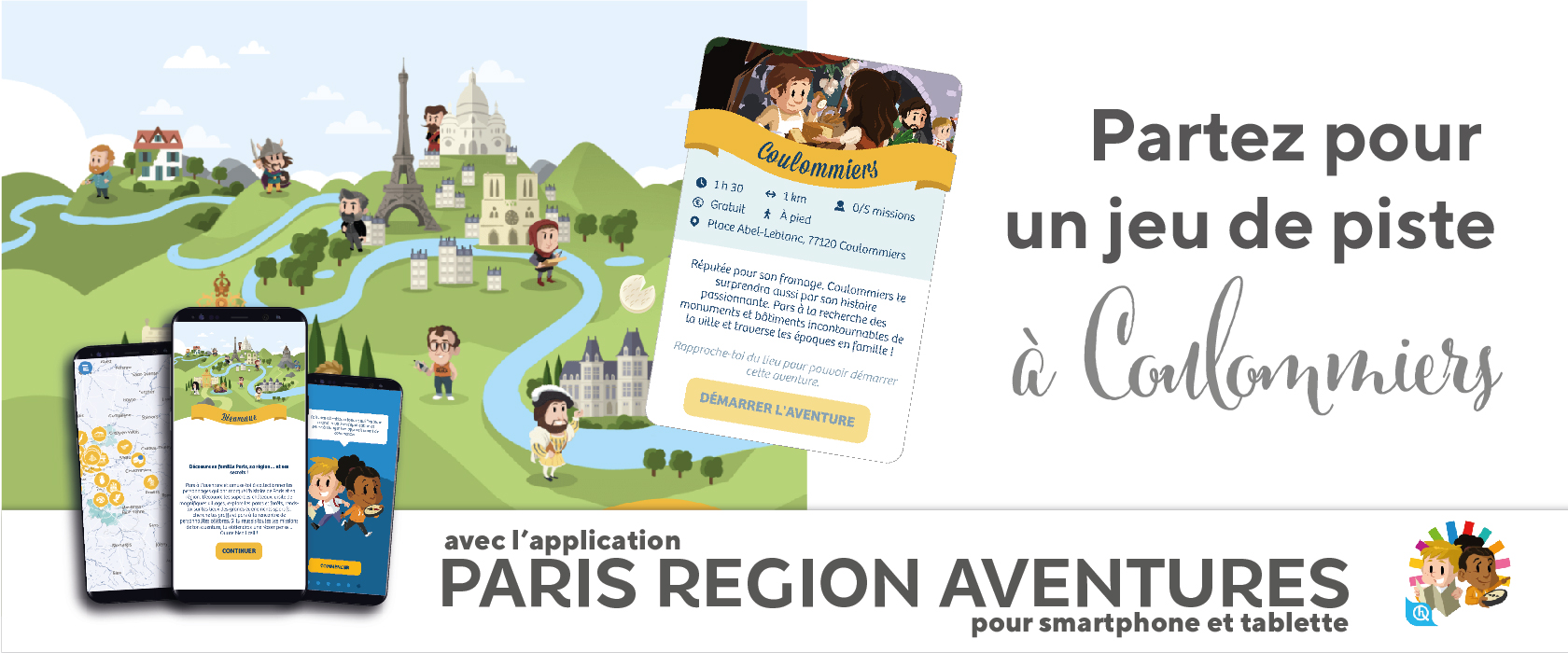 L'application Paris Région Aventure