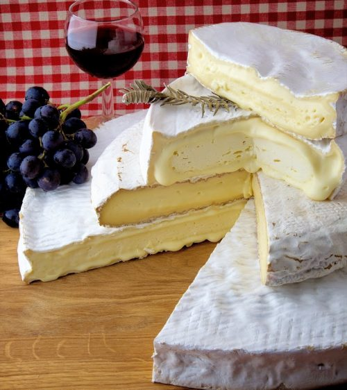 fromage, brie, assiette, repas